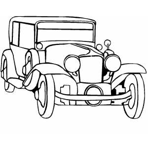 Classic Noble Car Coloring Page