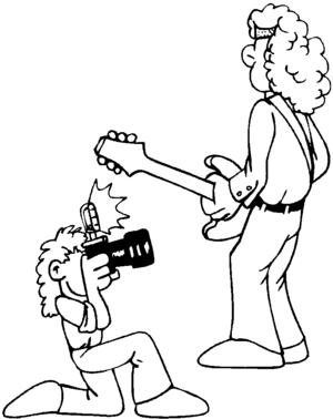 Rock Video coloring page