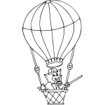 Fox in Hot Air Balloon