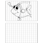 Big Eyed Fish Drawing