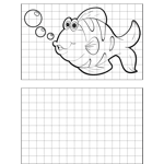 Curious Fish Drawing