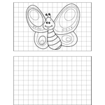 Happy Butterfly Drawing