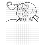 Happy Cow Drawing