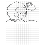 Happy Sheep Drawing