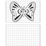 Surprised Butterfly Drawing