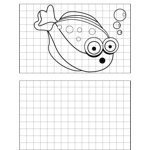 Surprised Fish Drawing
