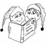Kids Reading Christmas Book