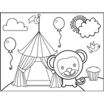 Monkey and Circus Tent