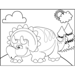 Drowsy Triceratops