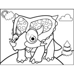 Excited Triceratops