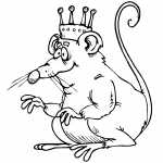 Rat King With Crown