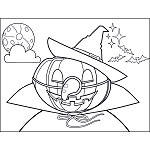 Jack-o-Lantern with Witch Hat