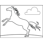Horse with Cloud