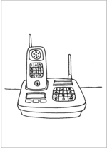 Cordless Telephone And Stand