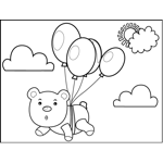 Bear Tied to Balloons