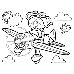 Bear in Airplane