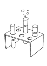 Science Class Test Tubes And Stand