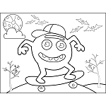 Monster on Skateboard