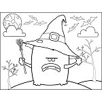 Monster with Witch Hat