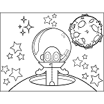 Space Alien with Bubble