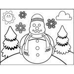 Snowman in Scarf