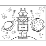 Robot and Planets