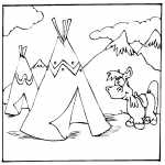 Teepees And Horse