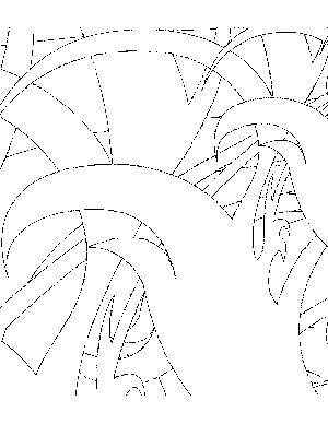 Abstract Plants Coloring Page