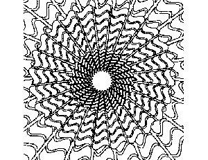Abstract Sun coloring page