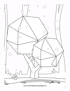 Park coloring page