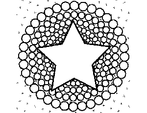 Star and Circles coloring page