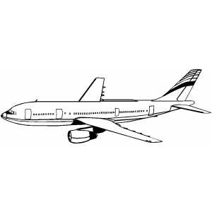 A300 Plane coloring page