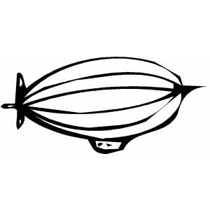 Blimp coloring page