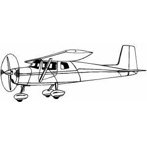 cesna airplane outline template