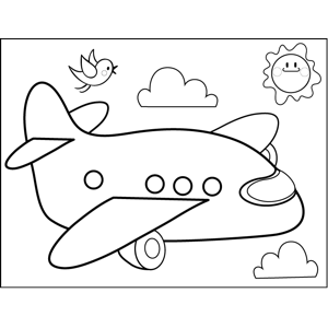 Commercial Airplane coloring page