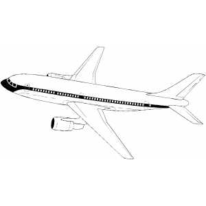 southwest airplane coloring pages - photo#49