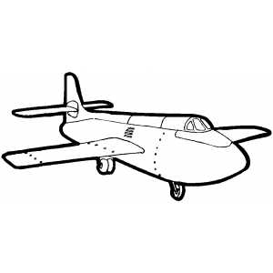 Flying Cargo Plane coloring page