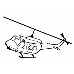 Flying Helicopter coloring page