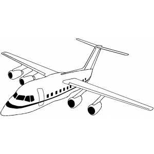 Flying Plane coloring page