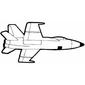 Flying Reactive Fighter Plane coloring page
