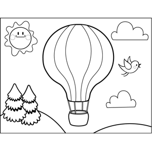 photo relating to Hot Air Balloon Coloring Pages Free Printable identified as Incredibly hot Air Balloon Coloring Site