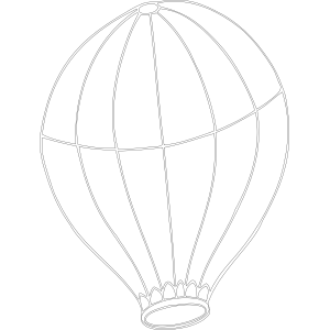 Hot Air Balloon without Basket coloring page