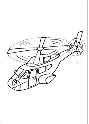 Jet Helicoptor coloring page