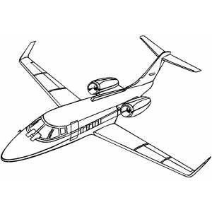 Lear Jet coloring page