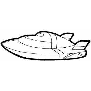 Motor Boat coloring page