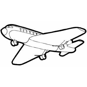 Passengers Plane From Bottom coloring page