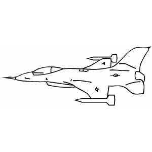 Plane With Missles coloring page