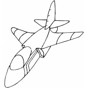 Plane With Small Wings coloring page