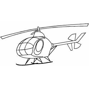 Ready To Fly Helicopter coloring page