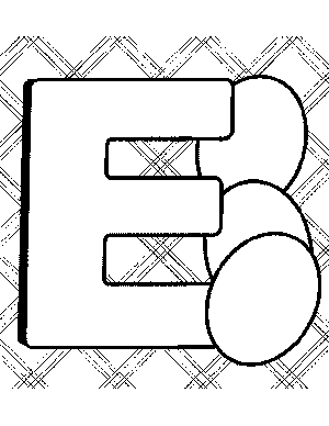 printable letter e coloring pages